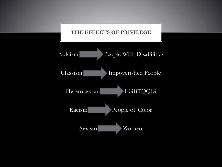 The effects of privilege