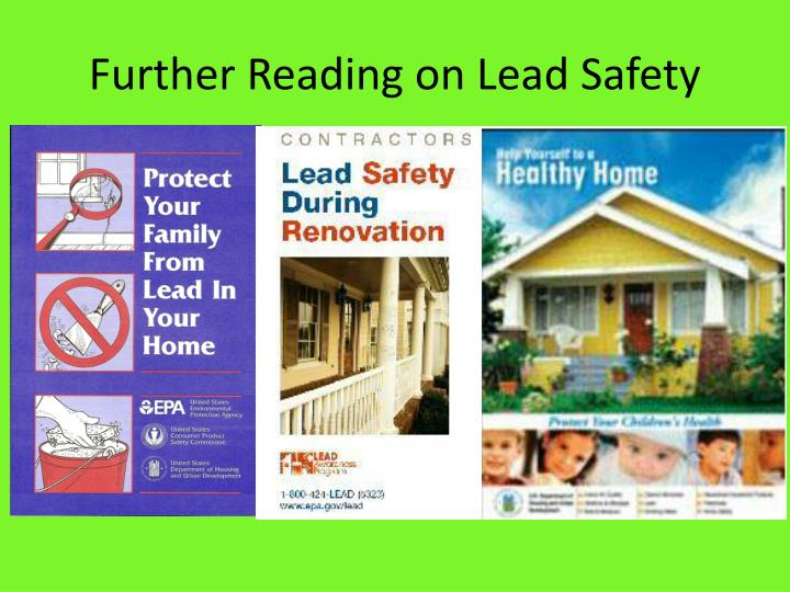 Further Reading on Lead Safety