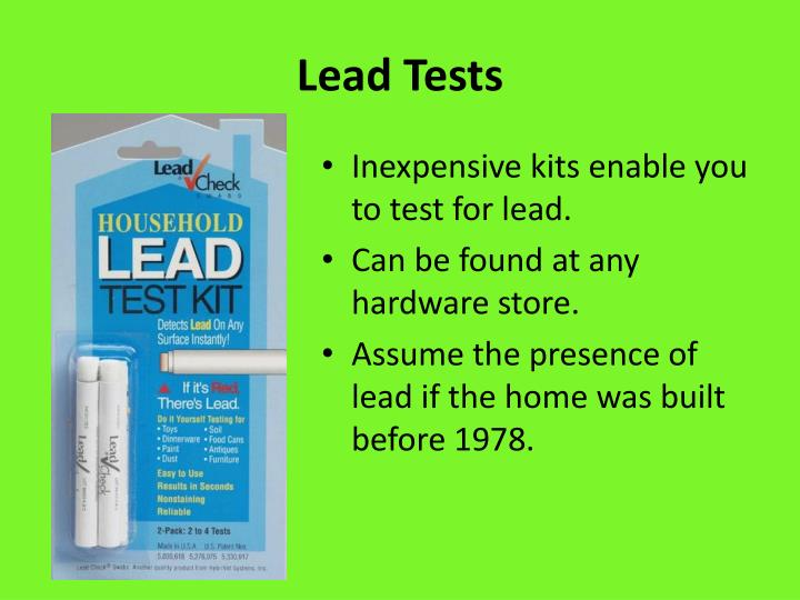 Lead Tests