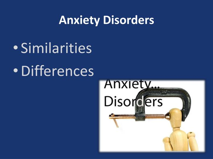 Anxiety disorders1