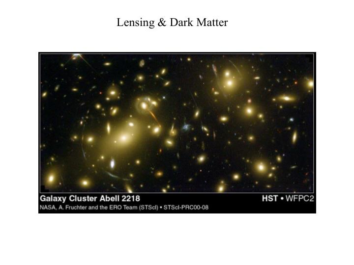 Lensing & Dark Matter