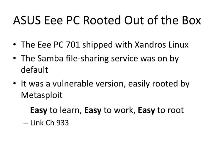 ASUS Eee PC Rooted Out of the Box