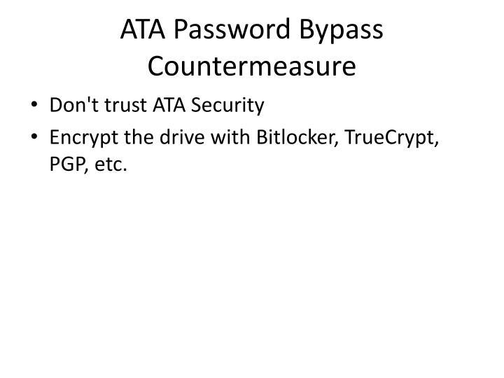 ATA Password Bypass Countermeasure