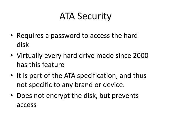 ATA Security