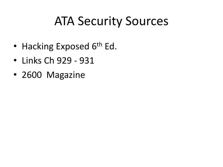 ATA Security Sources