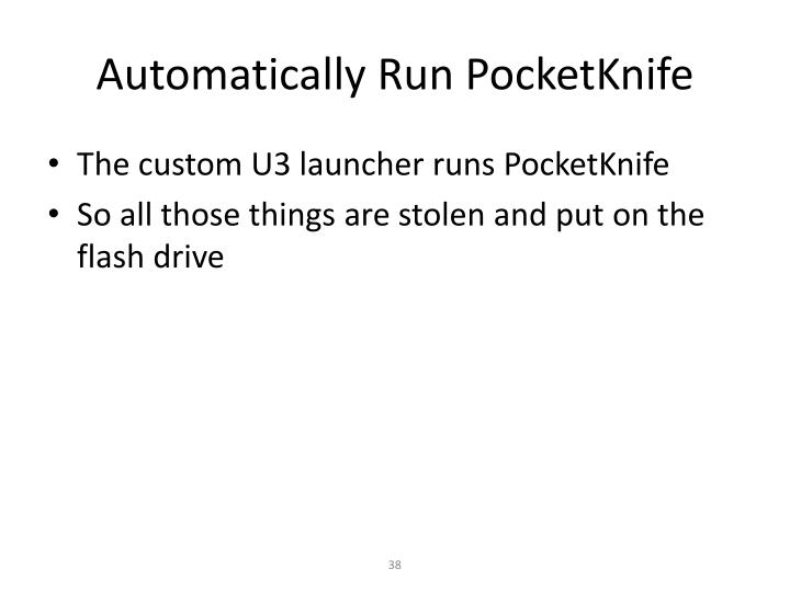 Automatically Run PocketKnife