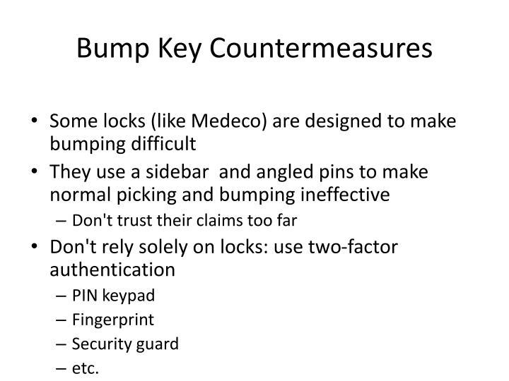 Bump Key Countermeasures