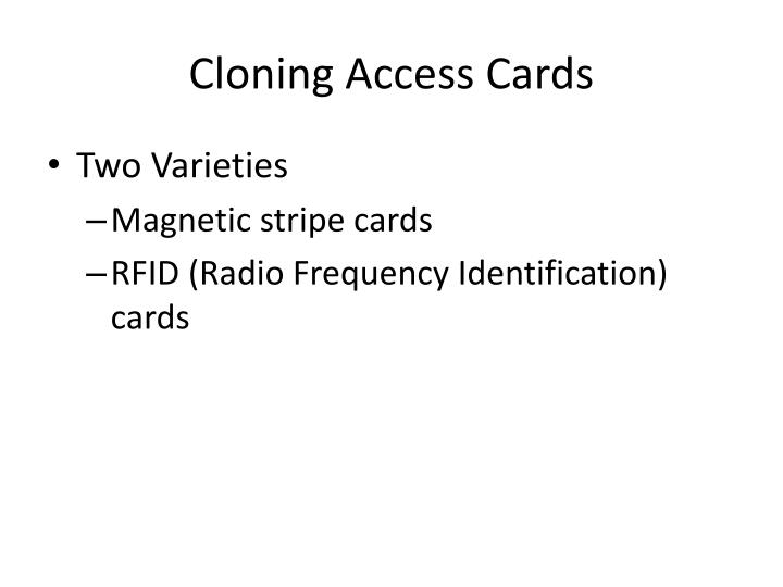 Cloning Access Cards