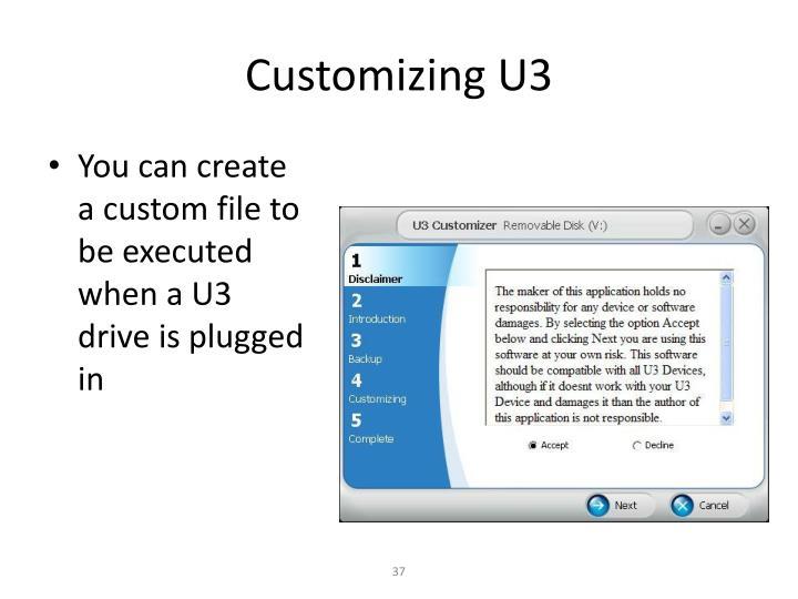Customizing U3