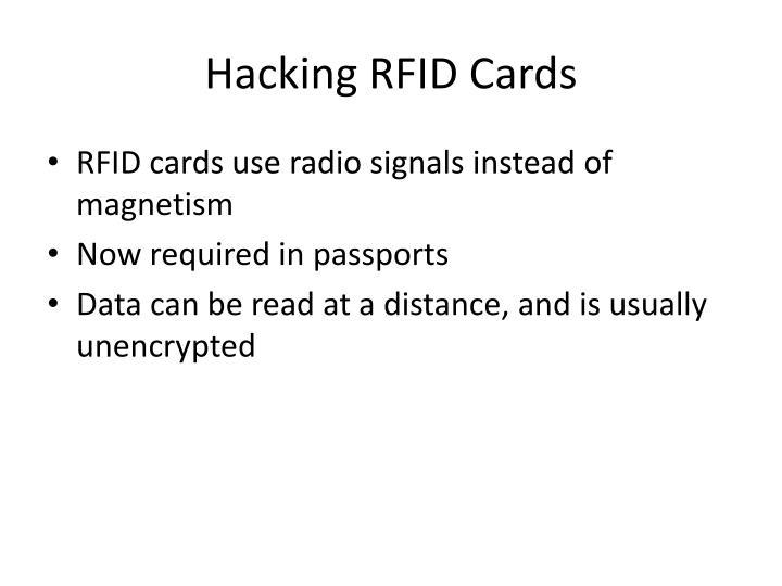 Hacking RFID Cards