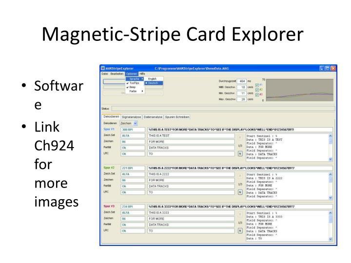 Magnetic-Stripe Card Explorer