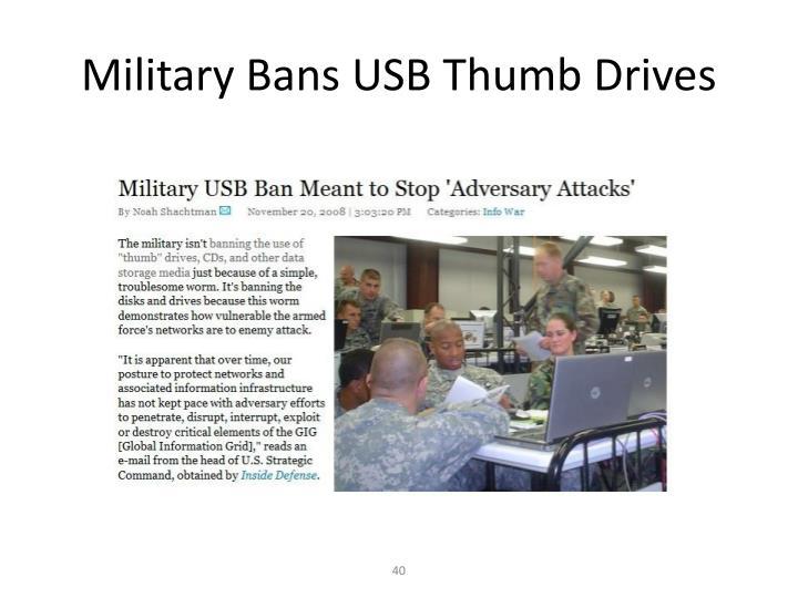 Military Bans USB Thumb Drives