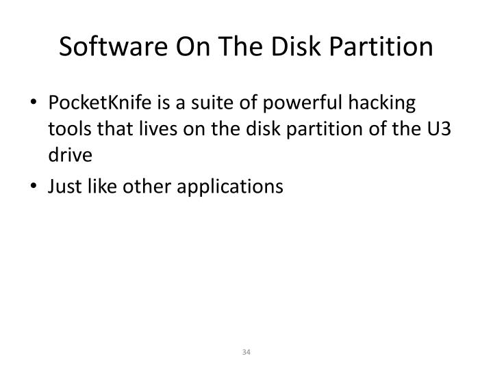 Software On The Disk Partition
