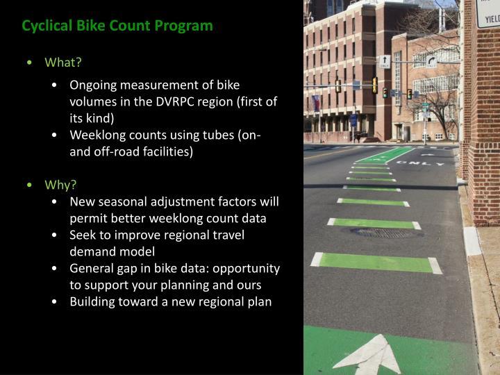 Cyclical Bike Count Program