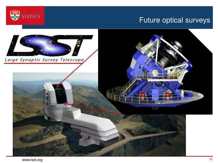 Future optical surveys
