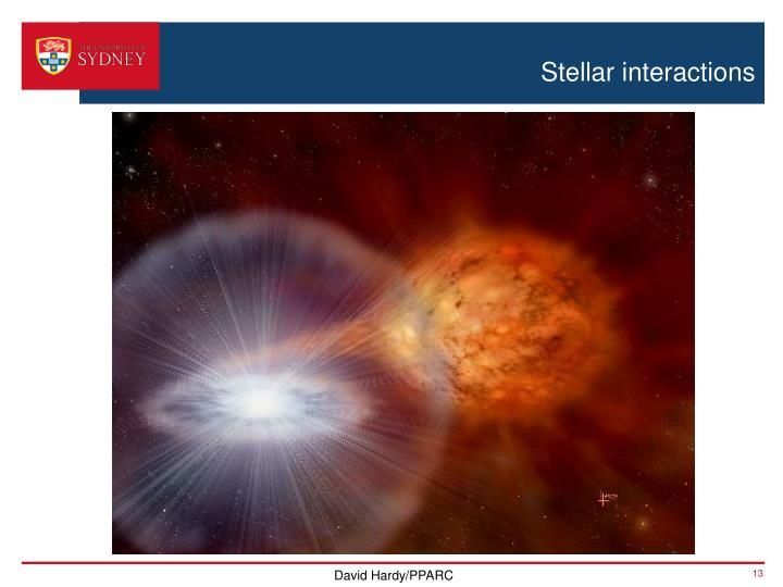 Stellar interactions