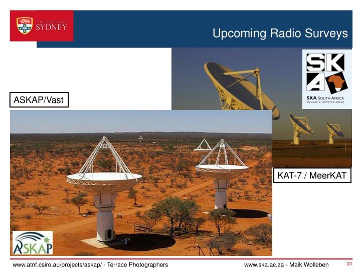 Upcoming Radio Surveys