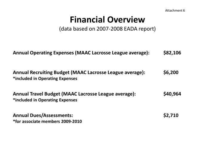 Financial Overview