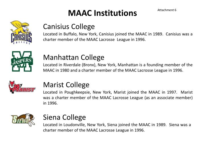 Maac institutions