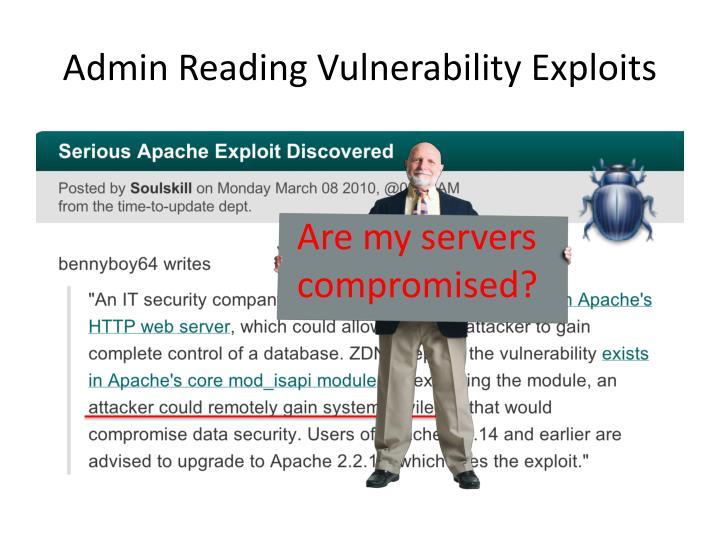 Admin Reading Vulnerability Exploits
