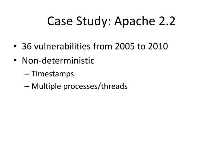 Case Study: Apache 2.2