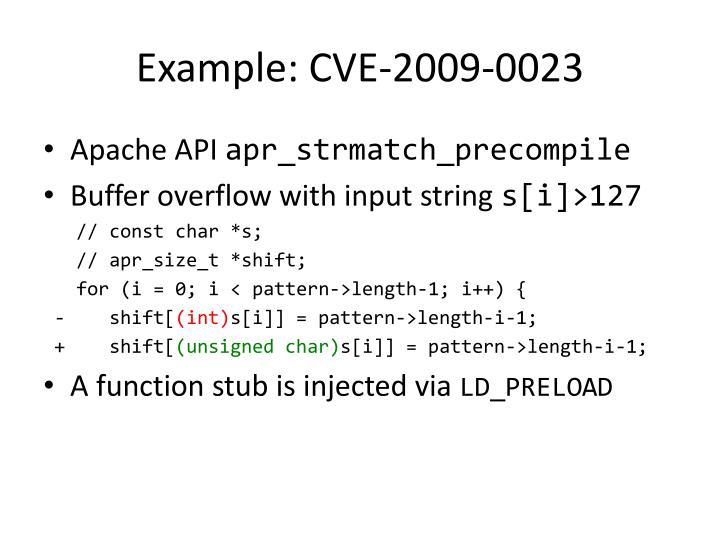 Example: CVE-2009-0023