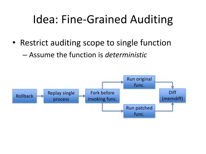 Idea: Fine-Grained Auditing