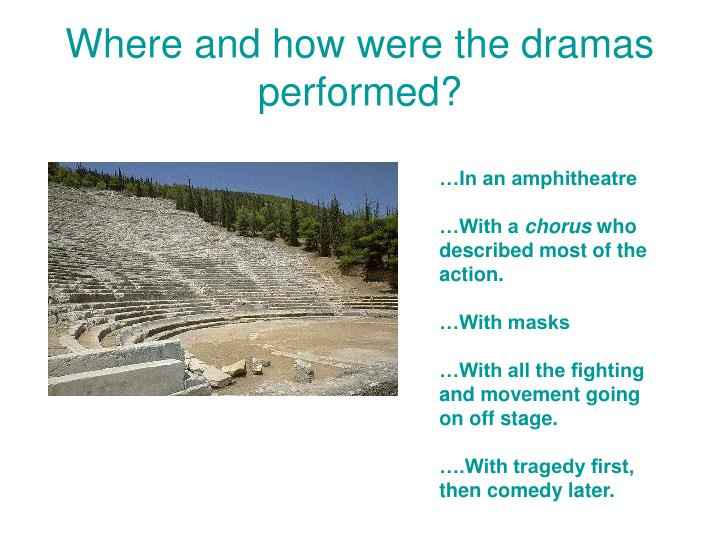 Where and how were the dramas performed?