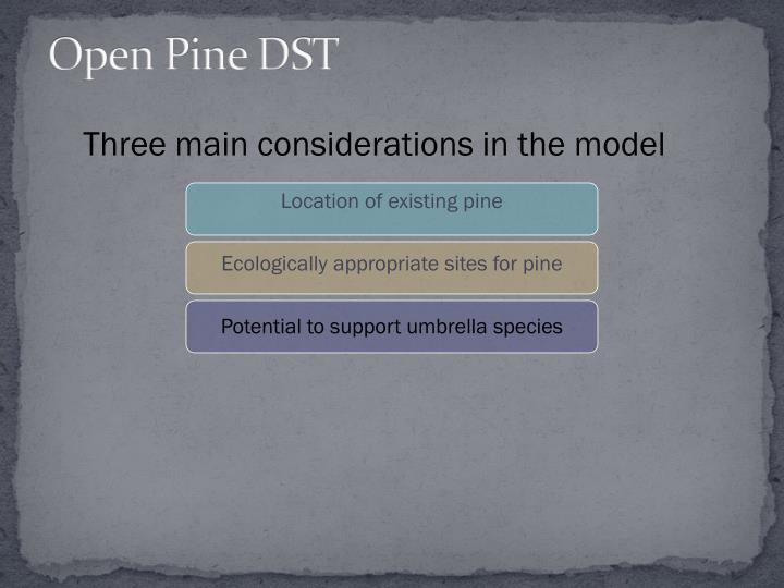 Open Pine DST