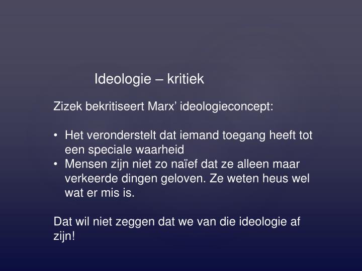 Ideologie – kritiek