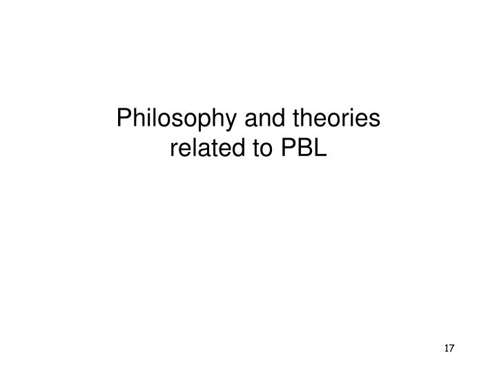 Philosophy and theories