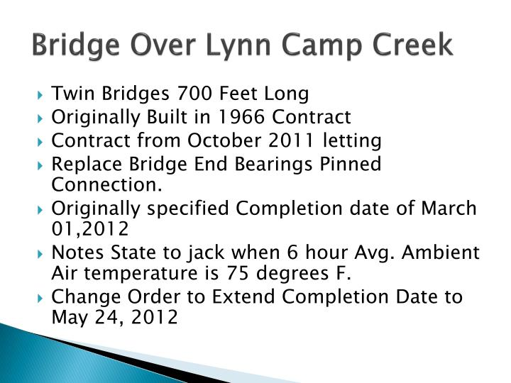 Bridge Over Lynn Camp Creek