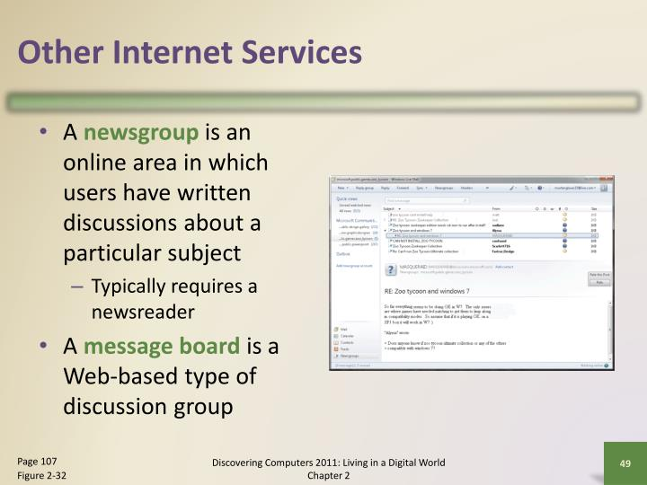 Other Internet Services