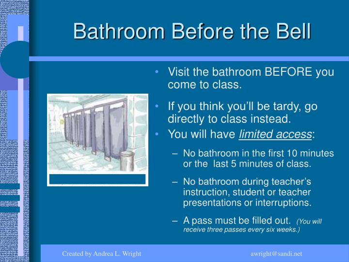 Bathroom Before the Bell