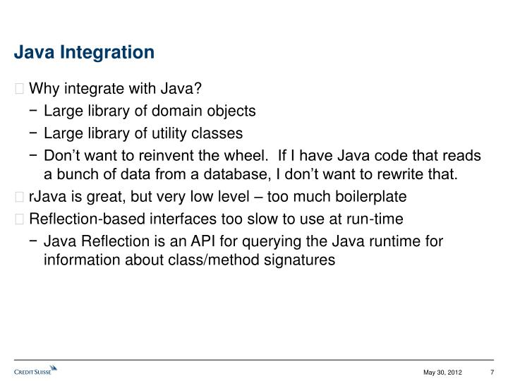 Java Integration
