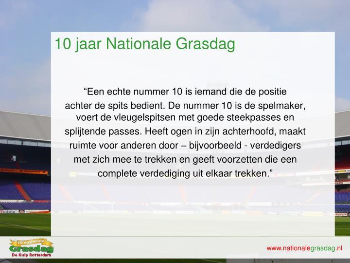 10 jaar Nationale
