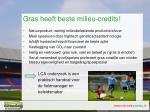 gras heeft beste milieu credits