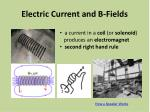 electric current and b fields1