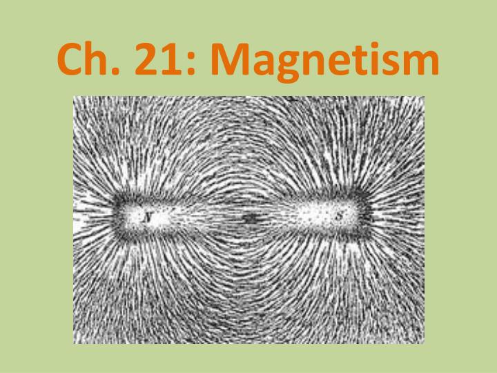 Ch. 21: Magnetism