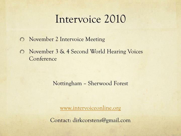 Intervoice 2010