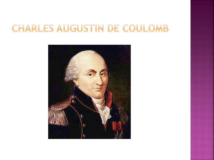 Charles augustin de