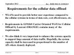 requirements for the cellular data offload