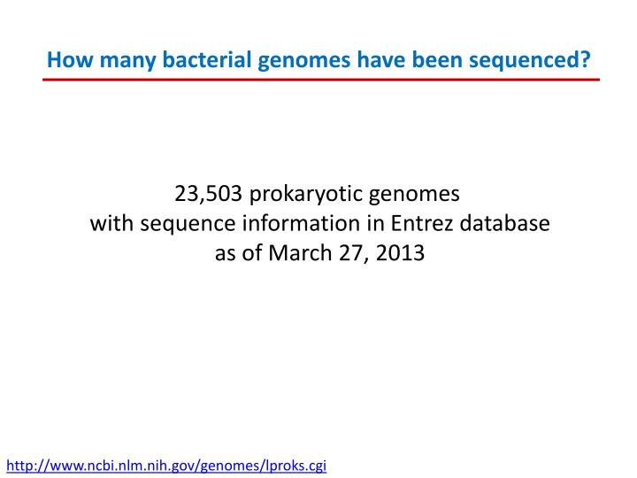 How many bacterial genomes have been sequenced?