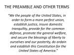 the preamble and other terms1