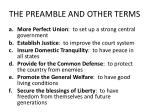 the preamble and other terms2
