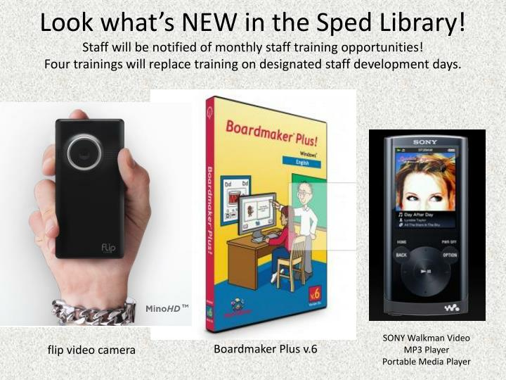 Look what's NEW in the Sped Library!