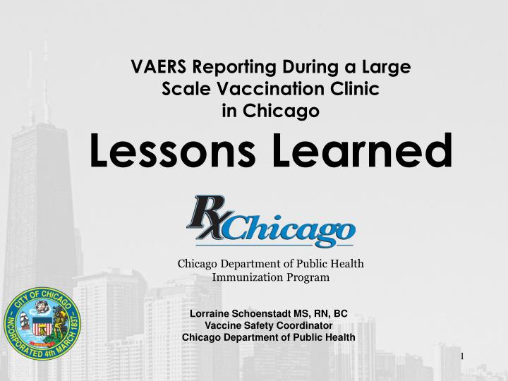 vaers reporting during a large scale vaccination clinic in chicago lessons learned