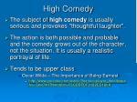 high comedy