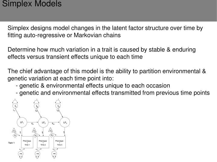 Simplex Models