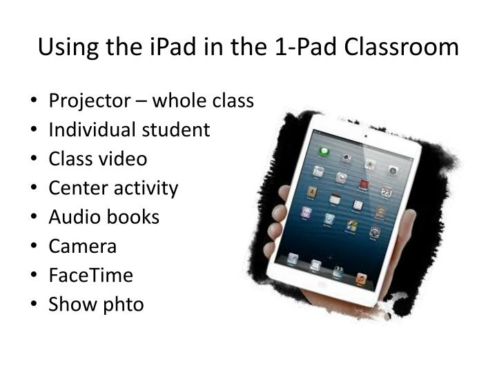 Using the iPad in the 1-Pad Classroom